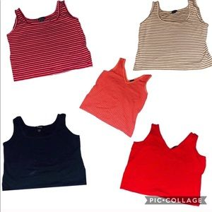 5 New York and company tank tops. All sizes XL!